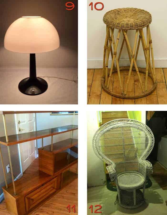 Boston Craigslist Retro Lamp Peacock chair
