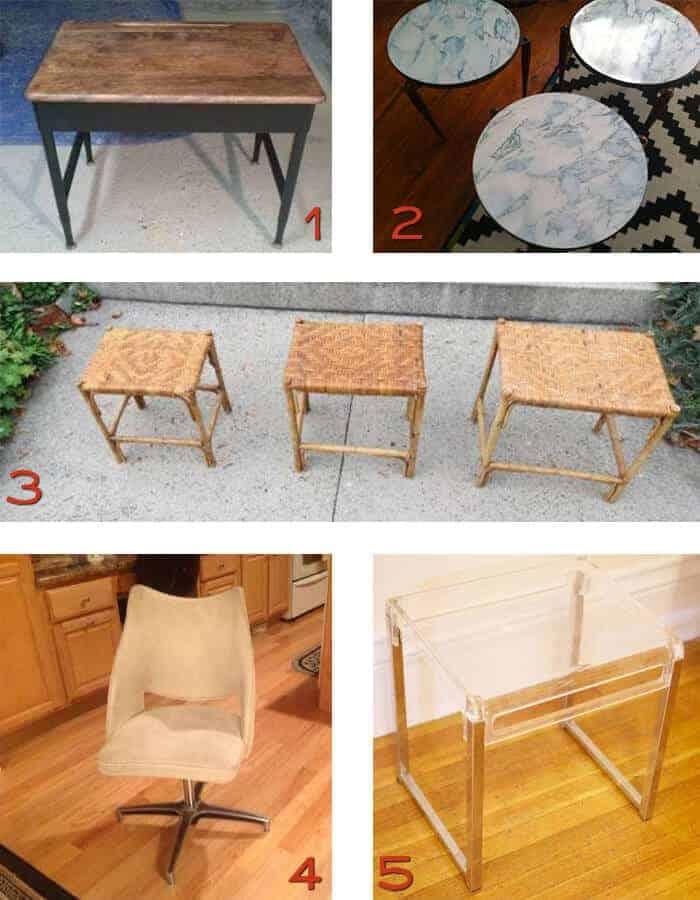 Boston Craigslist Vintage Desk and tables