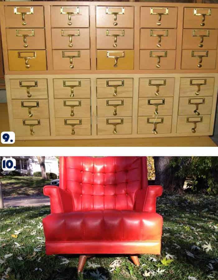 Card Catalog and Chair Omaha