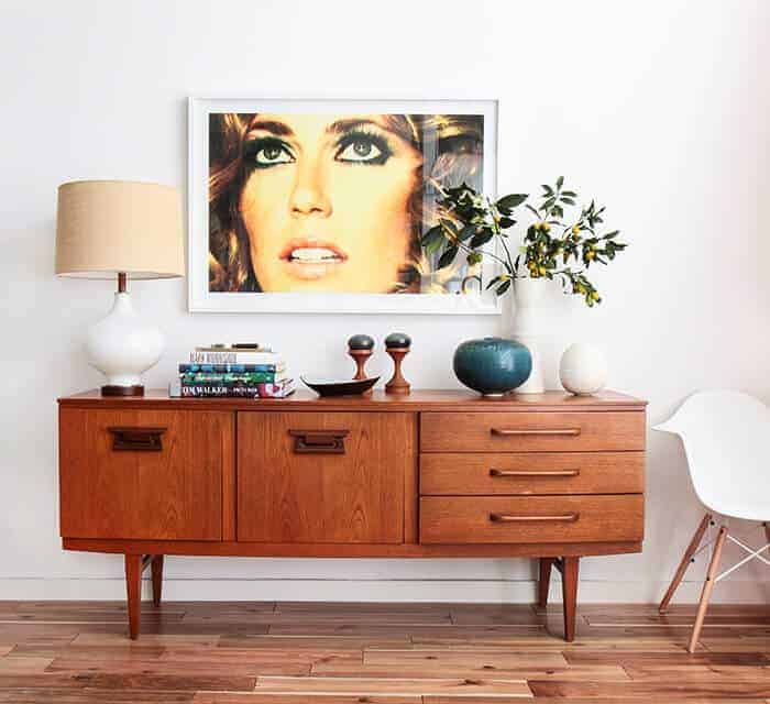 Credenza_4 Ways_Photography_Pottery_Mid Century Modern Casual