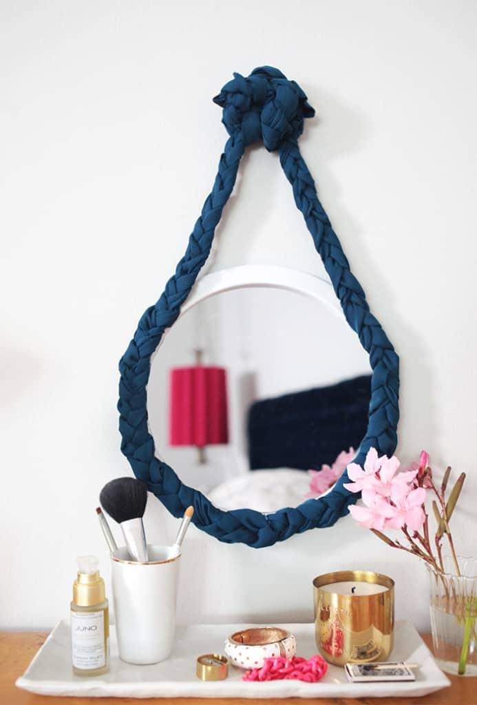 Customize It: Fabric Braided Mirror