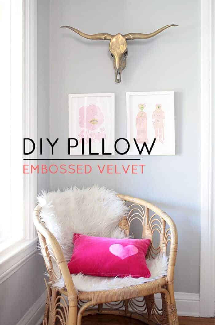 DIY Embossed Pillow