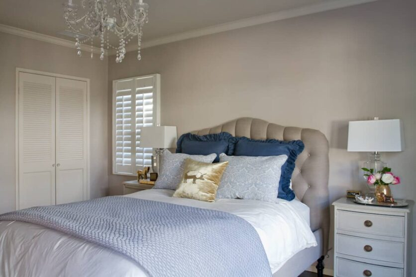 Emily Henderson Bedroom Tufted Headboard