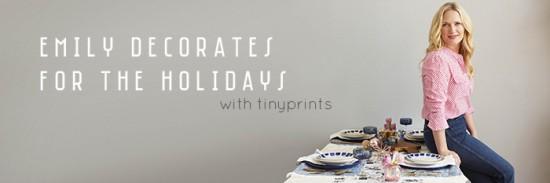 Emily Decorates with Tiny Prints