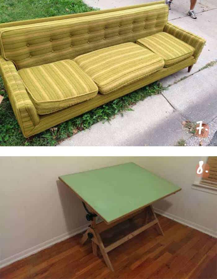 Free Sofa and Drafting Table Kansas City