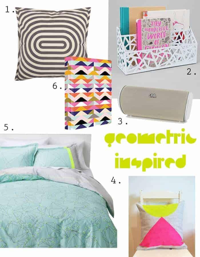 Geo Inspired Dorm Room Round Up Part 2