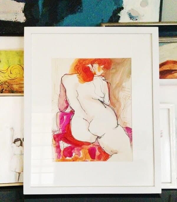 nude art watercolor