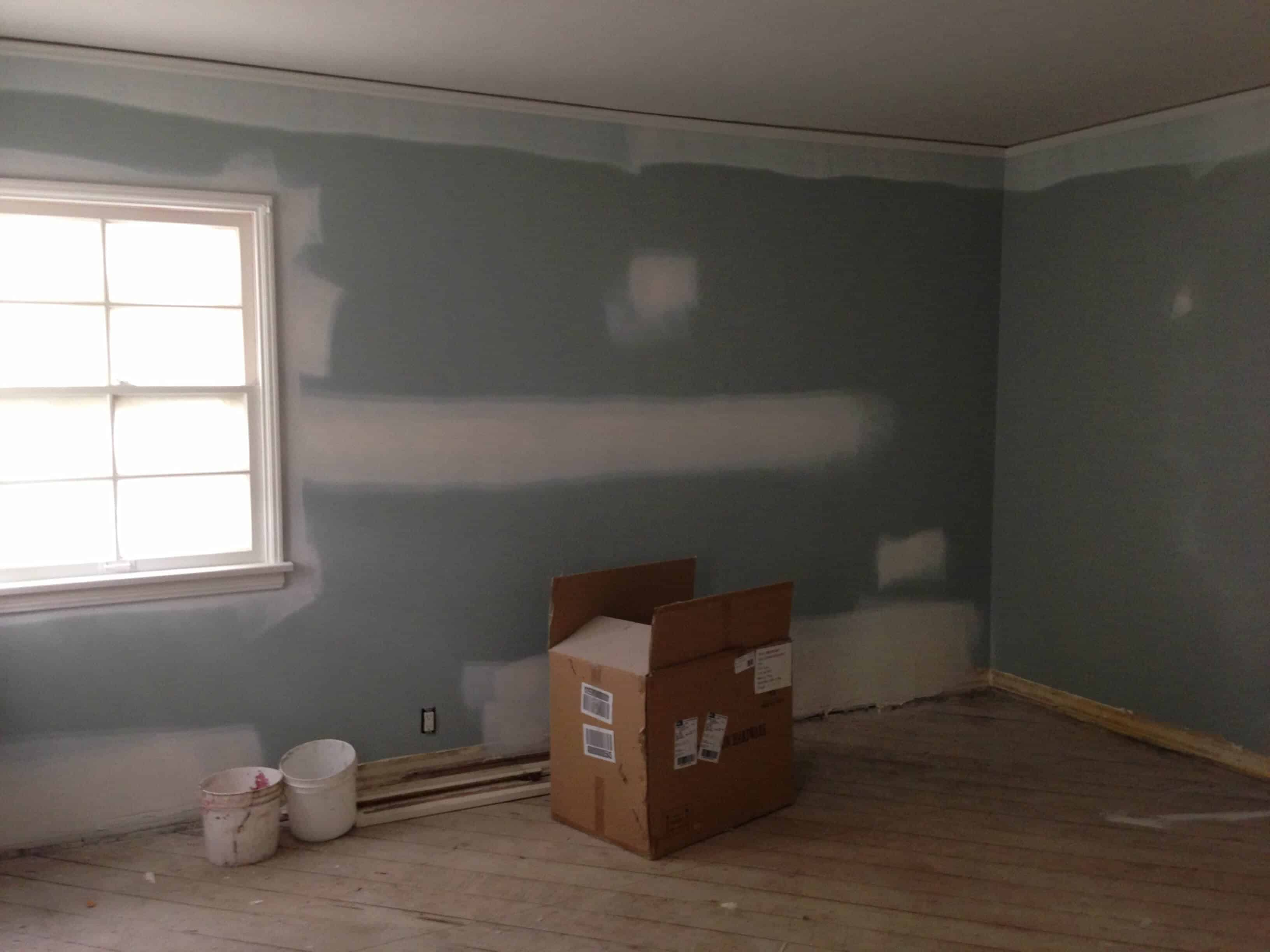 master bedroom under construction