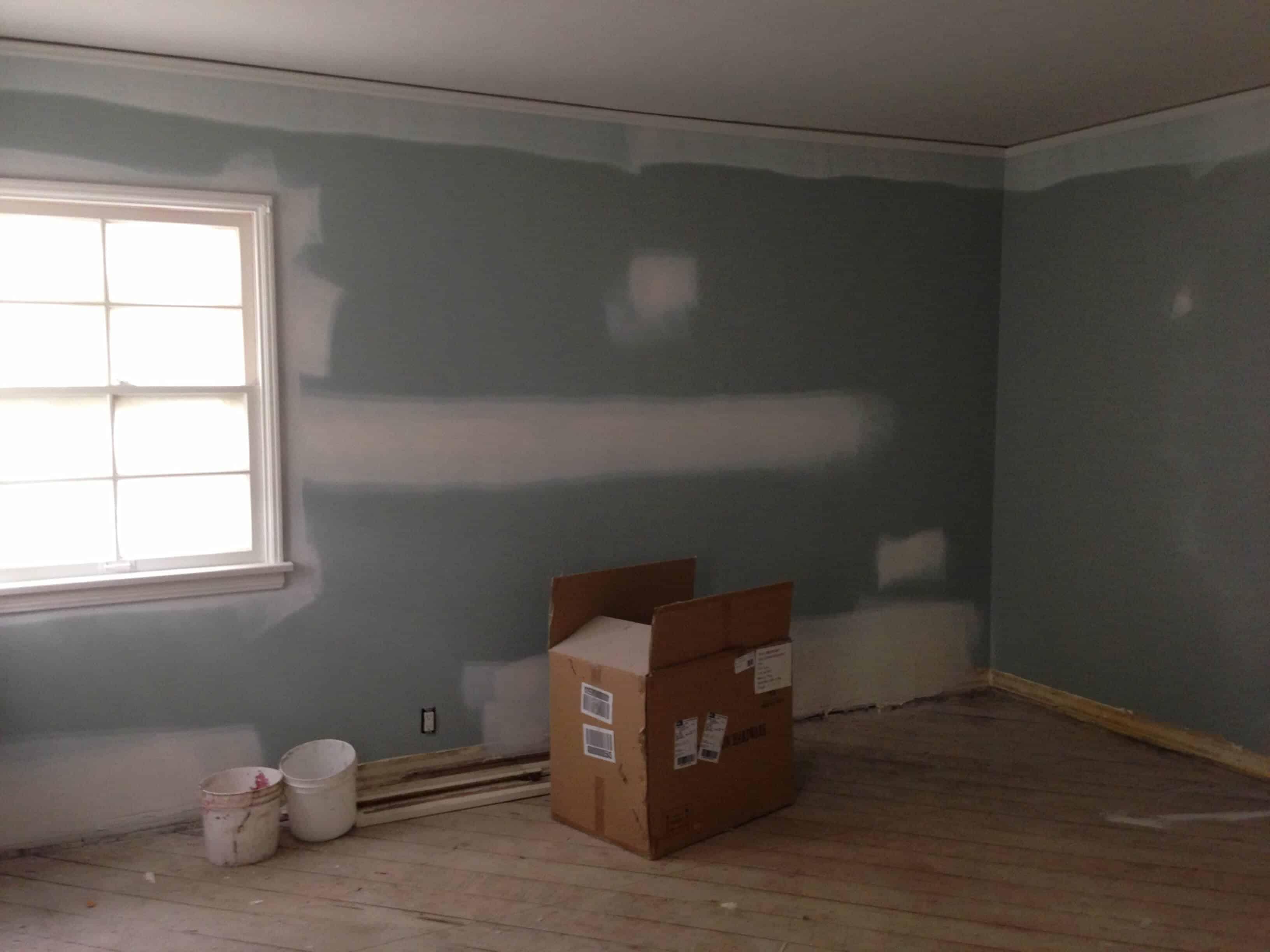master bedroom under construction