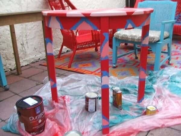 painted table