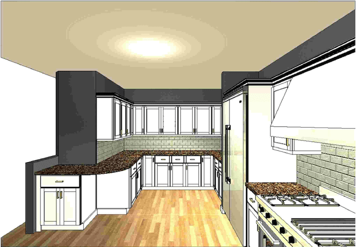 kitchen before