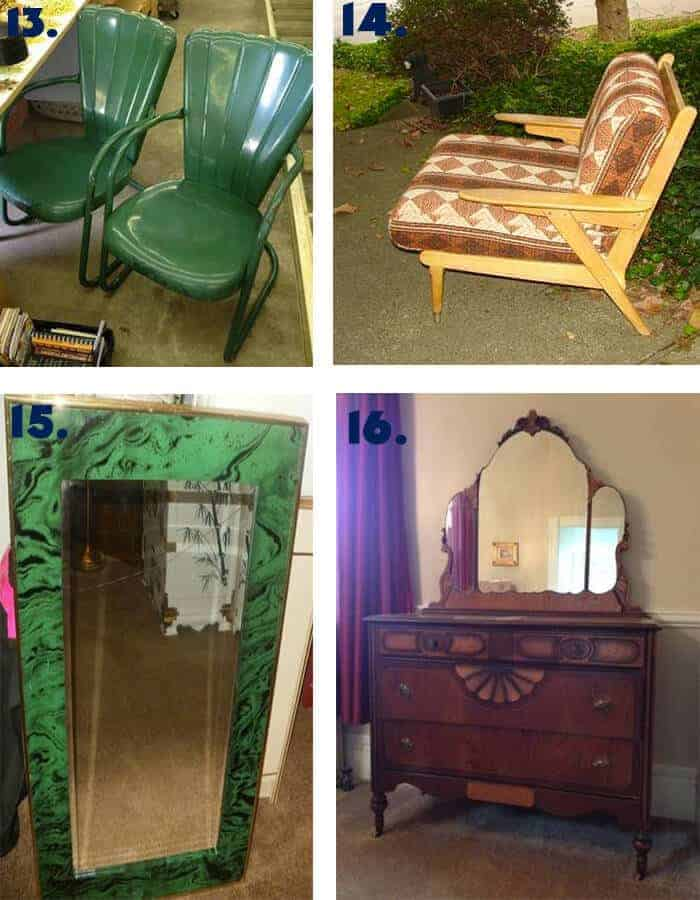 Lawn chairs Dresser and Mirror