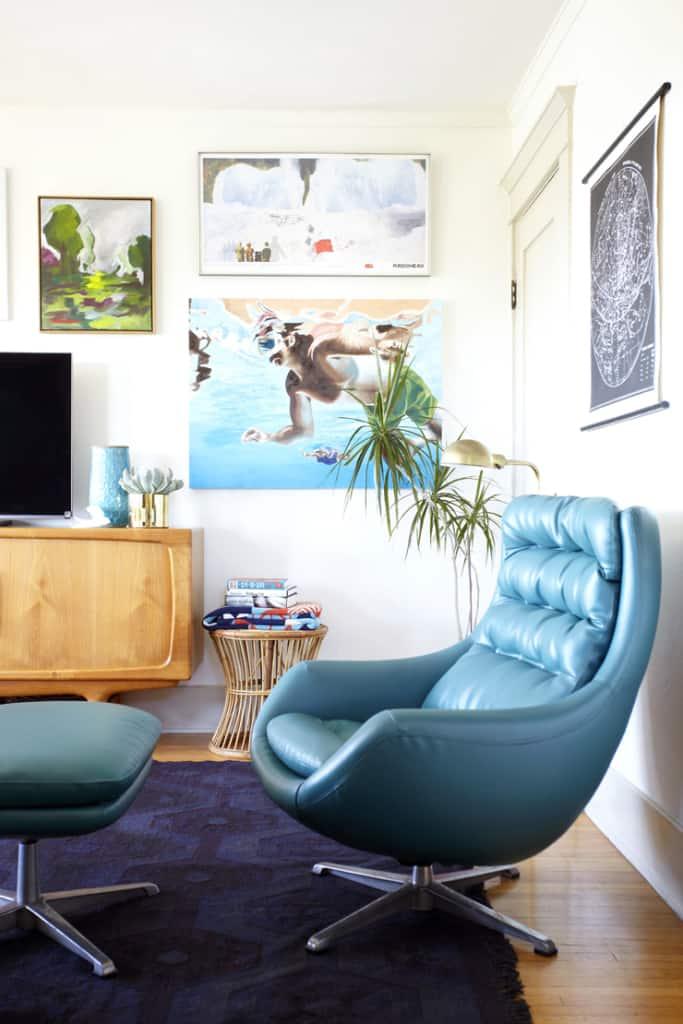 teal vintage chair