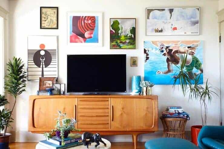 art around TV