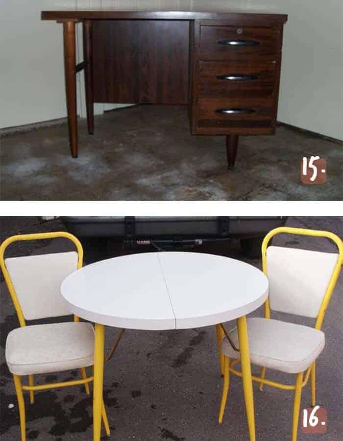 MCM Desk and Dining Set