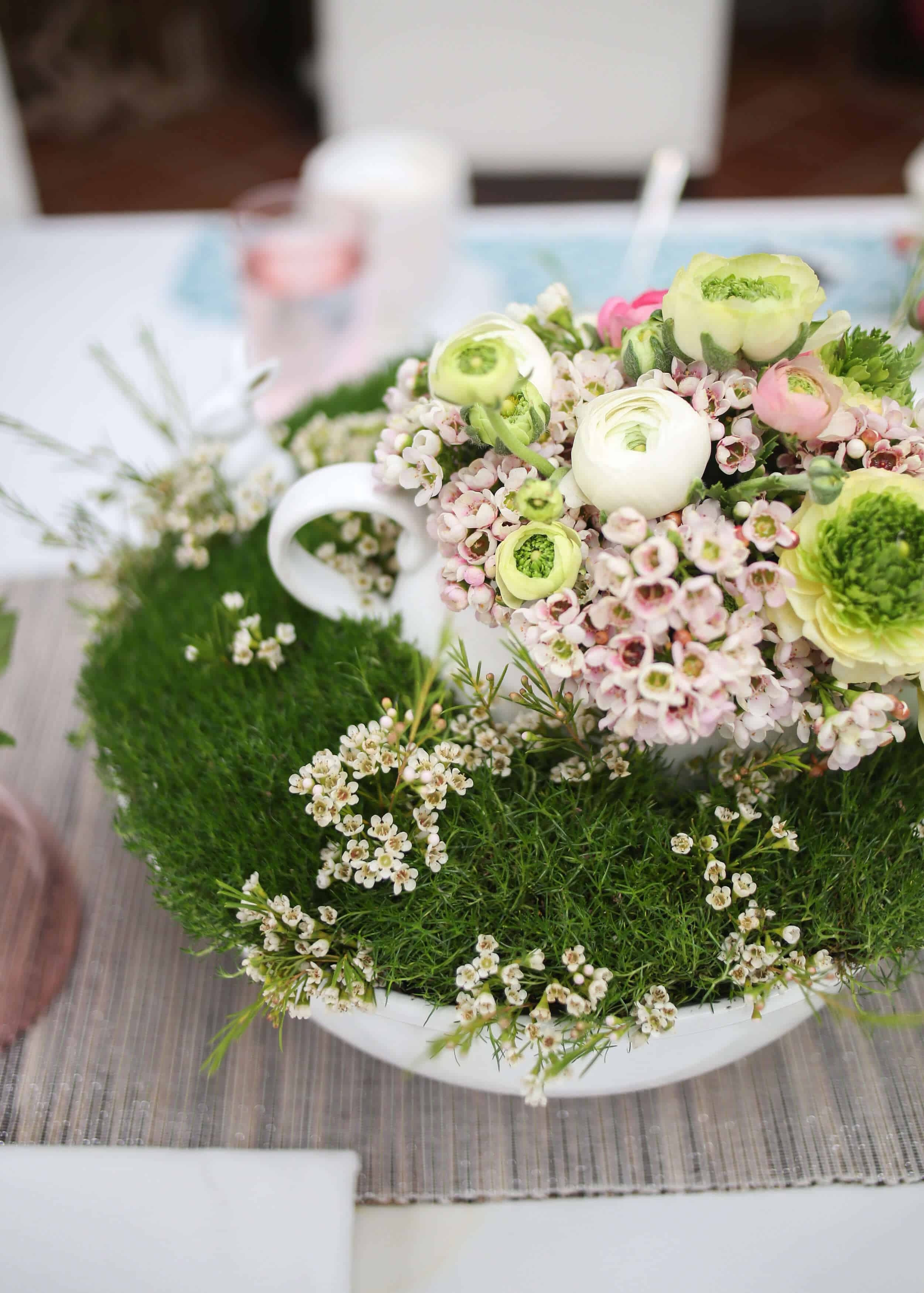 MOSS AND FLOWERS