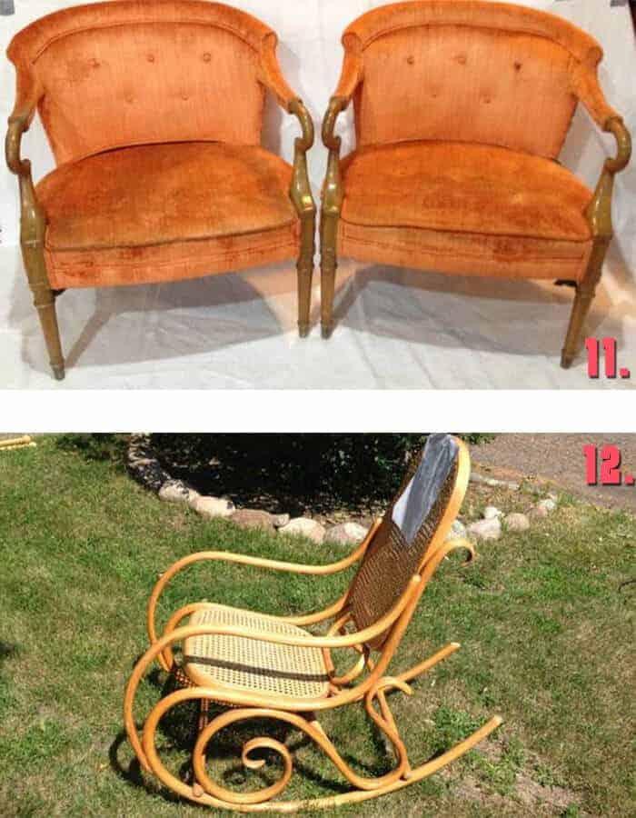 Minneapolis Craigslist vintage chairs and rocker