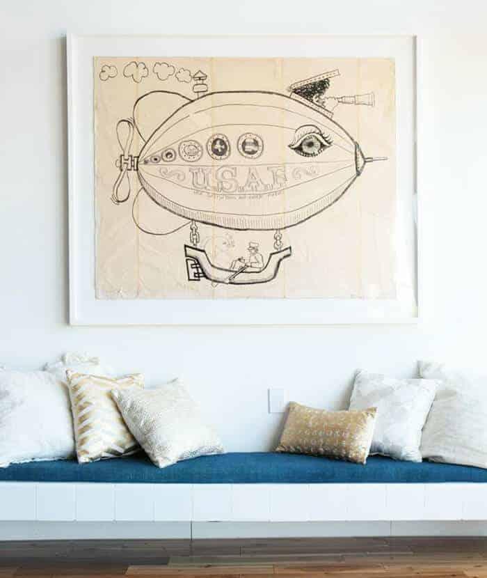 Pillows_ Bench Midcentury Modern Emily Henderson_Metallics Gold White Silver copy