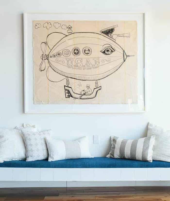 Pillows_ Bench Midcentury Modern Emily Henderson_Neutrals Creams Whites
