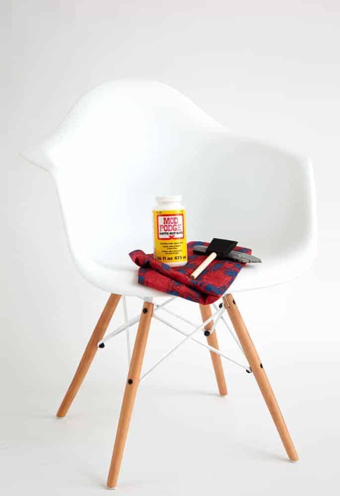 Redbook DIY_Chair ModPodge Desk Midcentury Modern Eames Hack_ingredients