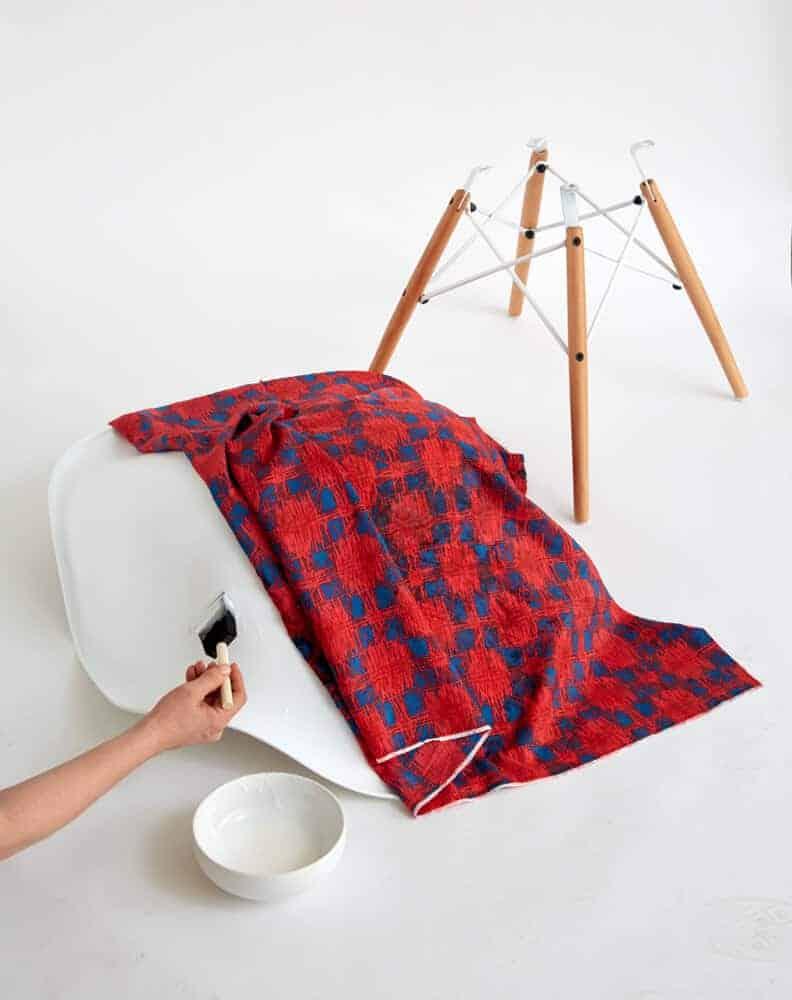Redbook DIY_Chair ModPodge Desk Midcentury Modern Eames Hack_modpodge