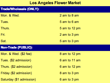 flower market hours