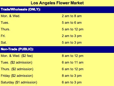 flower market hours