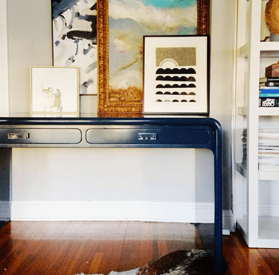 galapagos blue desk