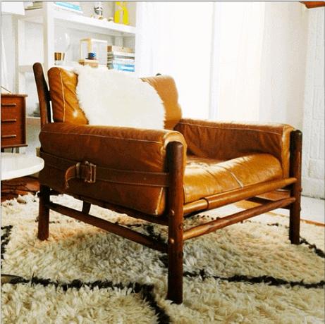 vintage brazilian safari chair