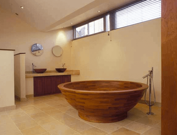 wooden bathtub by william garvey
