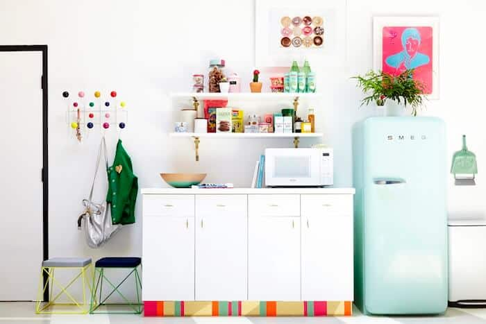 green smeg fridge