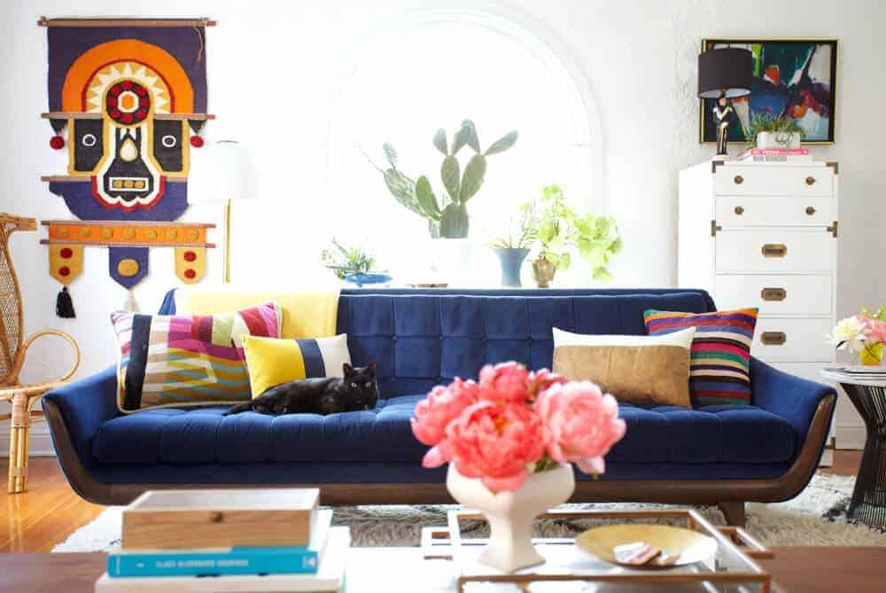 blue gold room