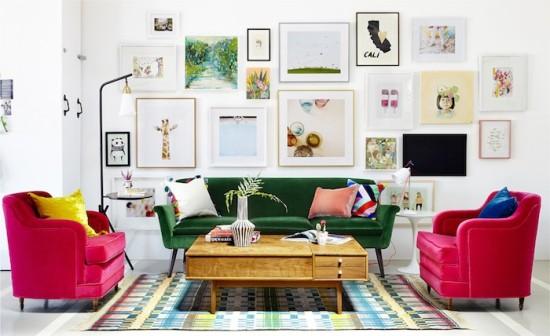 green-velvet sofa