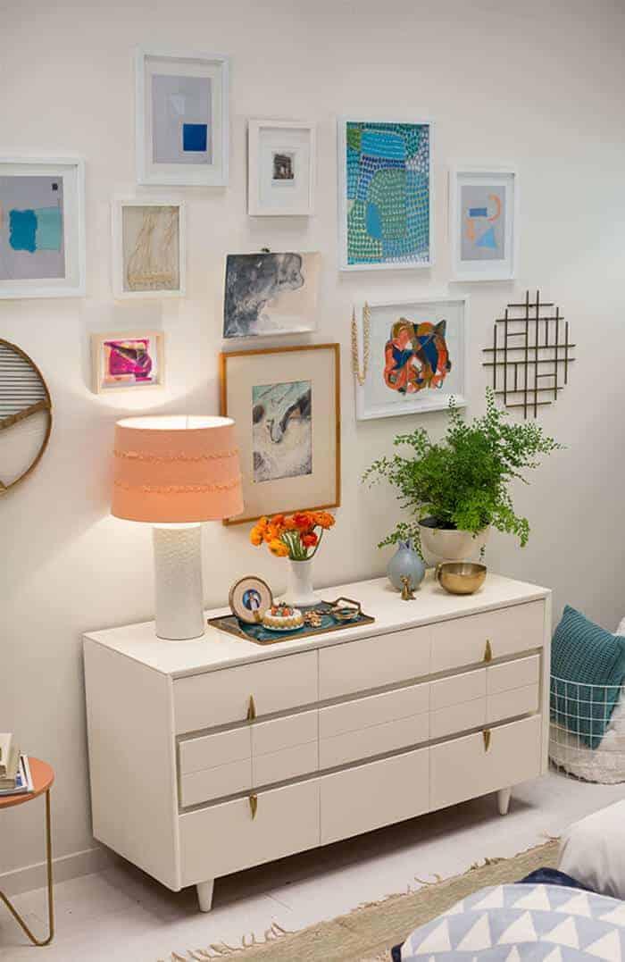 Target Accent Wall_Dresser Gallery Wall Modern