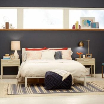 Target Chapter 7 Navy Blue Accent Wall Bedroom Makeover Emily Henderson