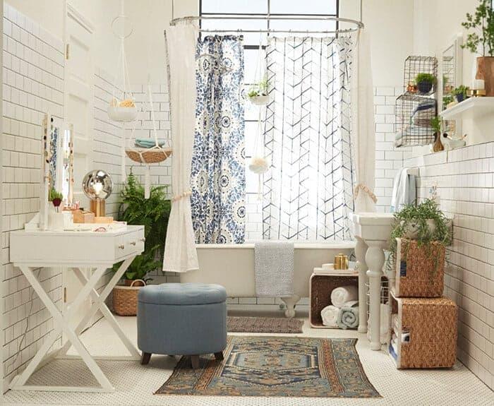 Target_Emily Henderson_Bathroom_Blue White Green Eclectic Bohemian_full view
