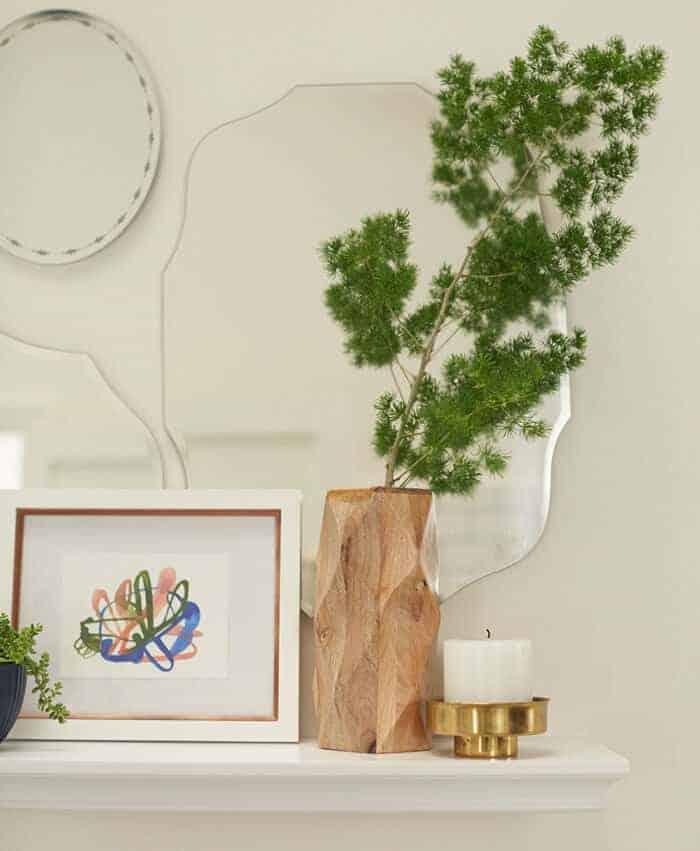 Target_Emily Henderson_Bathroom_Blue White Green Eclectic Bohemian_mirror wall