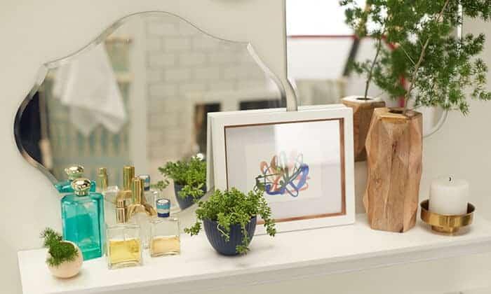 Target_Emily Henderson_Bathroom_Blue White Green Eclectic Bohemian_mirror wall1
