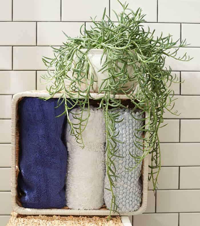 Target_Emily Henderson_Bathroom_Blue White Green Eclectic Bohemian_storage basket