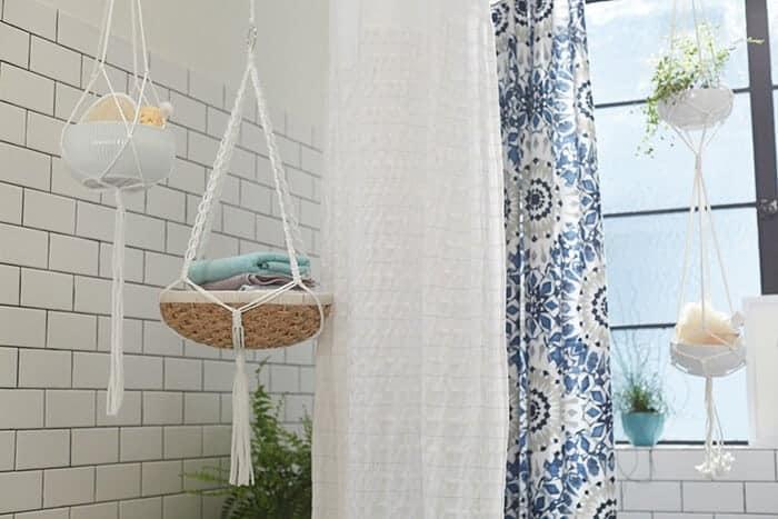 Target_Emily Henderson_Bathroom_Blue White Green Eclectic Bohemian_storage baskets
