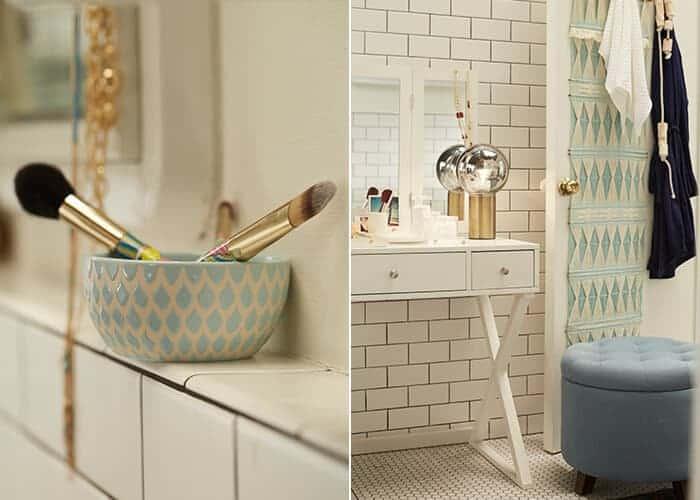Target_Emily Henderson_Bathroom_Blue White Green Eclectic Bohemian_vanity