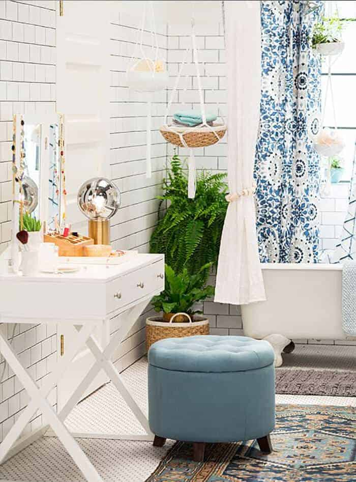 Target_Emily Henderson_Bathroom_Blue White Green Eclectic Bohemian_vanity5