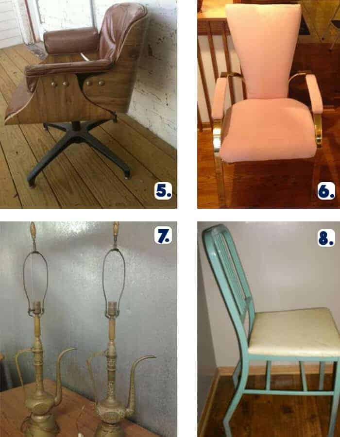 Vintage Chairs and Pair of Lamps Omaha