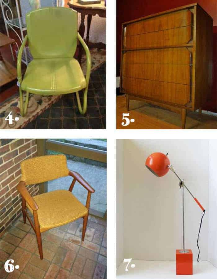 Vintage Lamp Chairs and Dresser nashville