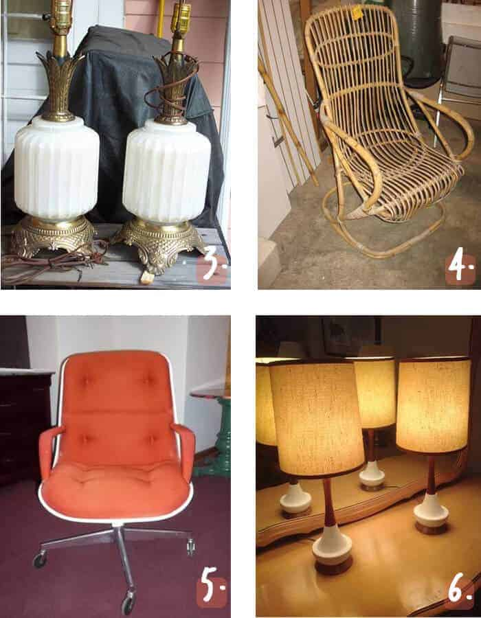 Vintage Lamps and Chairs Kansas City