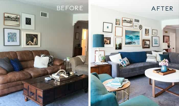 before & after living room