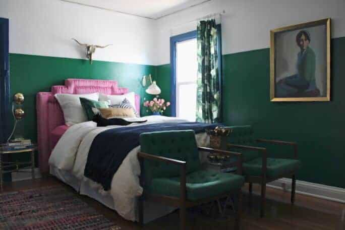 blue green pink bedroom-1