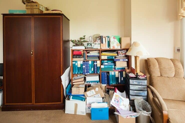 cluttered-bookcase