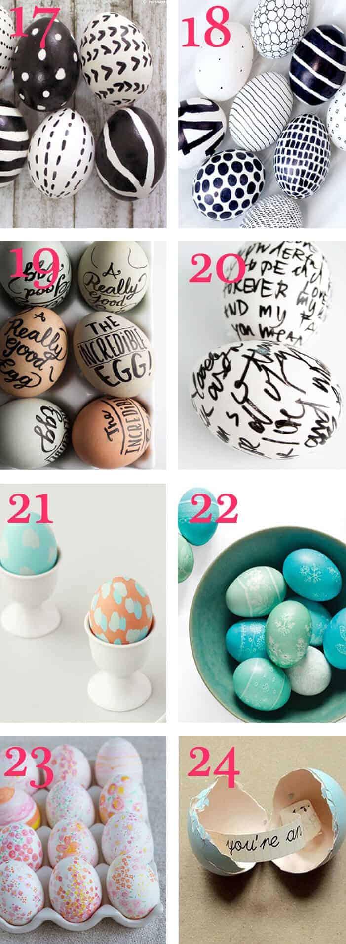 black/white easter egg