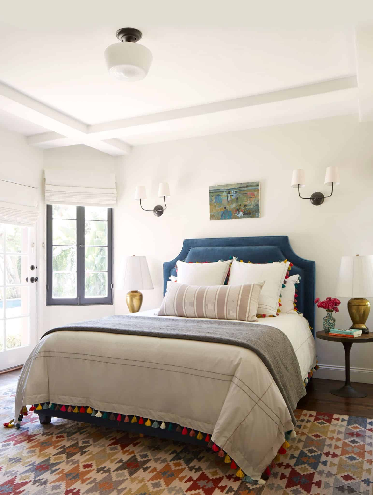 A simple, eclectic guest bedroom   emily henderson
